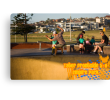 Tater Frontside 5-0 Shallow End Canvas Print