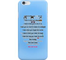 10 Things about Darren iPhone Case/Skin