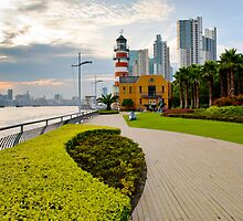 Shanghai Bund Lighthouse by Louis Tsai