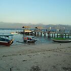 Gili T Jetty at sunset... by Mish Chappell