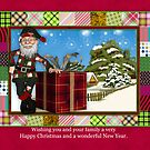 Santa Christmas Greeting Card With Scenery by Moonlake