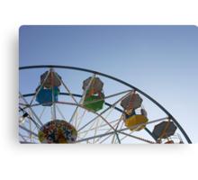 Ferris wheel at Scarborough sea front funfair Canvas Print