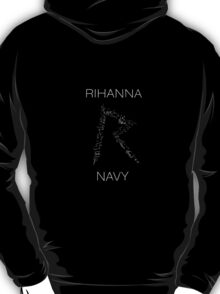 Rihanna Navy 'R' Design Black Case T-Shirt