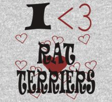 I <3 Rat Terriers by veganese