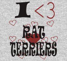 I <3 Rat Terriers T-Shirt