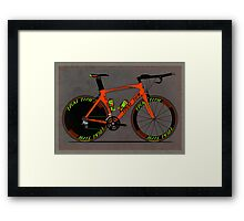 Time Trial Bike Framed Print