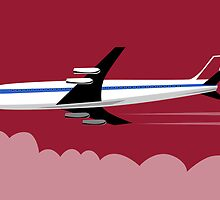 Commercial Jet Plane Airline Retro by patrimonio