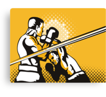 Boxer Boxing Knockout Punch Retro Canvas Print