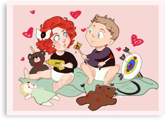 Baby-vengers- Black Widow and Hawkeye by Flamingo-Girl