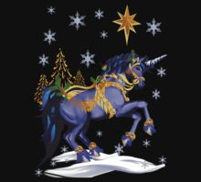 Bright Christmas Unicorn  by Lotacats
