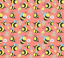 Silly Bees Pattern by SaradaBoru