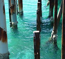 Water under the jetty by HJRobertson