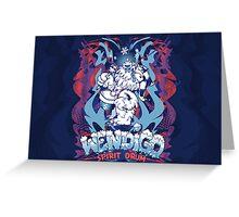 WENDIGO Spirit Drum Greeting Card