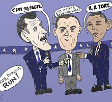 Caricature de ROMNEY GUMP et OBAMA by Binary-Options