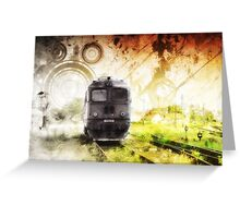 Hippie Old Timer Greeting Card
