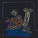 Night Drawings #B15 - King Minos... by Pascale Baud