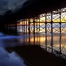 UNDER CROMER PIER,NORFOLK by Norfolkimages