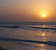 Sunset over Atlantic Ocean by Sue Robinson