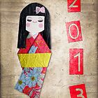 2013 kokeshi greeting card by Delphimages