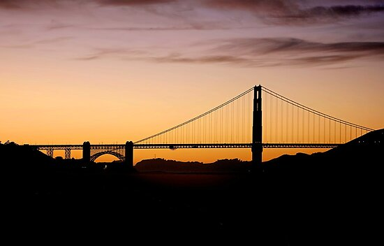 Golden Gate Silhouette by Fern Blacker