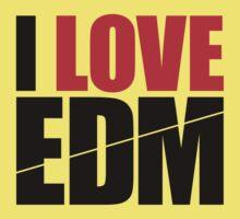 I Love EDM (Electronic Dance Music)  [black] Kids Clothes