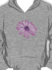 Single Pink African Daisy Against Green Foliage T-Shirt
