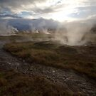 Geothermal hot springs in Iceland by Sven Brogren
