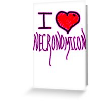Necronomicon  fictional grimoire  horror writer H. P. Lovecraft  Greeting Card