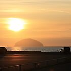Ailsa Craig from Girvan Harbour by Togfather