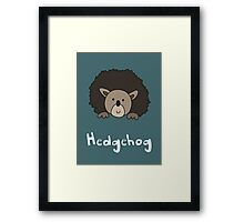 H for Hedgehog Framed Print