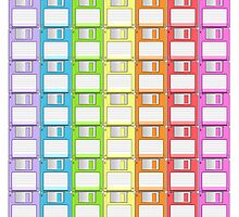 Floppy Disk Rainbow  by Creative Spectator