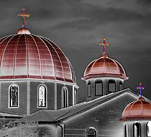 Three Domed Church by Laurie Minor