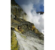 Crater wall of the White Island volcano. NZ Photographic Print