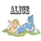 Alice in Wonderland Pinup by screamingtiki