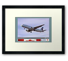 Air Canada Airbus 320 Framed Print