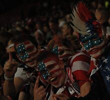 Team USA Fans Celebrate at Old Trafford by Matt Eagles