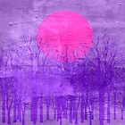 Violet Sunset Abstract Painting by Nhan Ngo