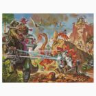 Epic Dinosaur Laser Battle by StudentXDesigns