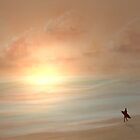 The lone surfer. by Edward Evans