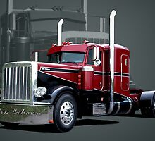 """Miss Behavin"" 1990 Peterbilt Semi Truck by TeeMack"