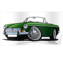 MG B Roadster British Racing Green Poster