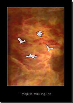"""Treegulls"" by Mui-Ling Teh"
