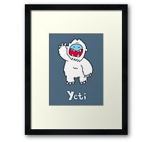 Y for Yeti Framed Print