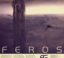 Mass Effect Feros Vintage Poster by Titch-IX