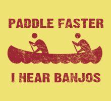 Paddle Faster I Hear Banjos - Vintage Red  Kids Clothes
