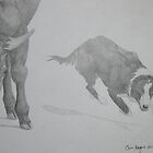 Uno turning a steer by texasrose34
