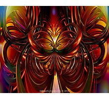Abstract Fire Heart Fx  Photographic Print