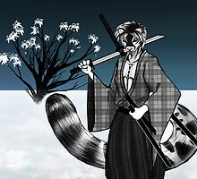 Snow Leopard Samurai by The-Librarian