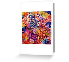 EVERYBODY'S COASTER- Bold Abstract Acrylic Painting Wine Glass Coaster Wow Autumn Home Decor Gift  Greeting Card