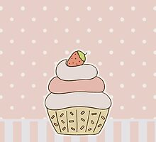 Strawberry Cupcake by ohmyglob